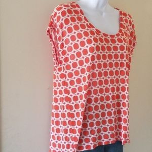 Michael by Michael Kors orange geometric tee, sz M